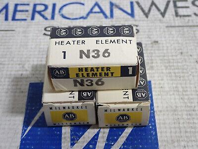 Allen-bradley N36 Heaters Lot Of 3 New