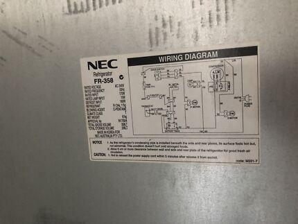 White nec fridgefreezer 506l great condition fridges freezers nec fridge greentooth Choice Image