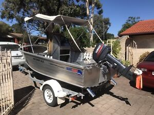 ** SOLD PENDING PICKUP** Quintrex 4.2m/14ft Dory Widebody Boat.