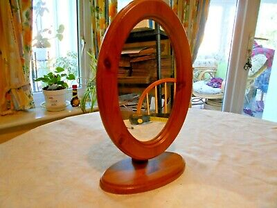 Pine oval mirror (pivoted)