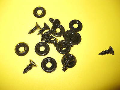 10 X BLACK No 8s CUP WASHERS  COUNTER SUNK SCREWS ALL CARS INTERIOR TRIM
