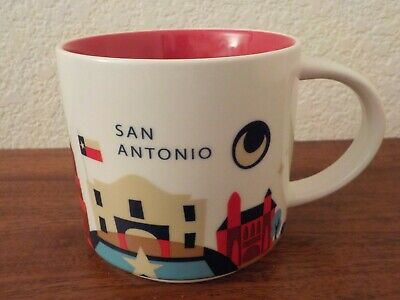 Starbucks You Are Here SAN ANTONIO Texas 14oz Coffee Mug Cup YAH Collection 2014