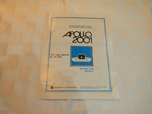 Vintage Apollo 2001 No TV-200, Instruction Manual, Enterprex International