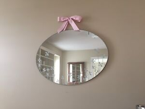 "Girl's Pottery Barn ""Posey"" Decorative Mirror"