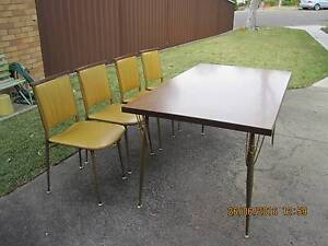 Retro 70s dining table and chairs Kogarah Rockdale Area Preview