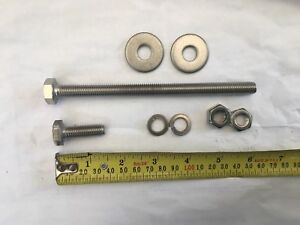 Stainless Hex Set Screw and nut  M10  X 150mm and 30 mm long