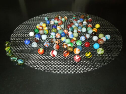 105 Vintage Machine Made Collectible Marbles Akro Peltier Christensen Lot #105B
