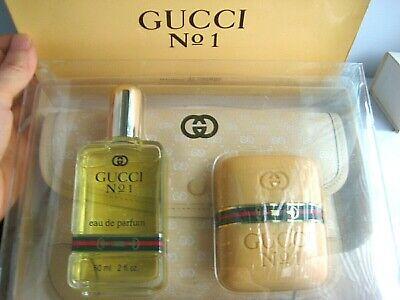 New Monogram Logo Pouch Set 80s Vintage 2 oz Gucci No 1 eau de Parfum I