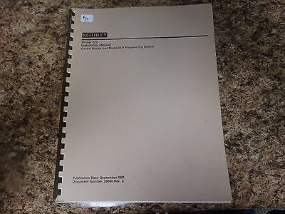 Keithley Model 227 Current Source Instruction Manual