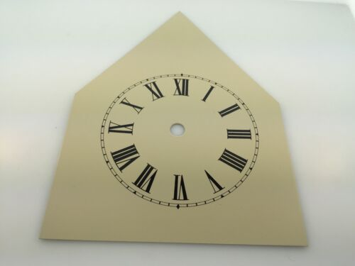 Reproduced Painted Metal Dial for Antiqe 1 Day Steeple Clocks in Cream Color