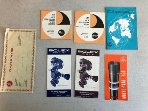 Bolex Vintage Guides - 6 total