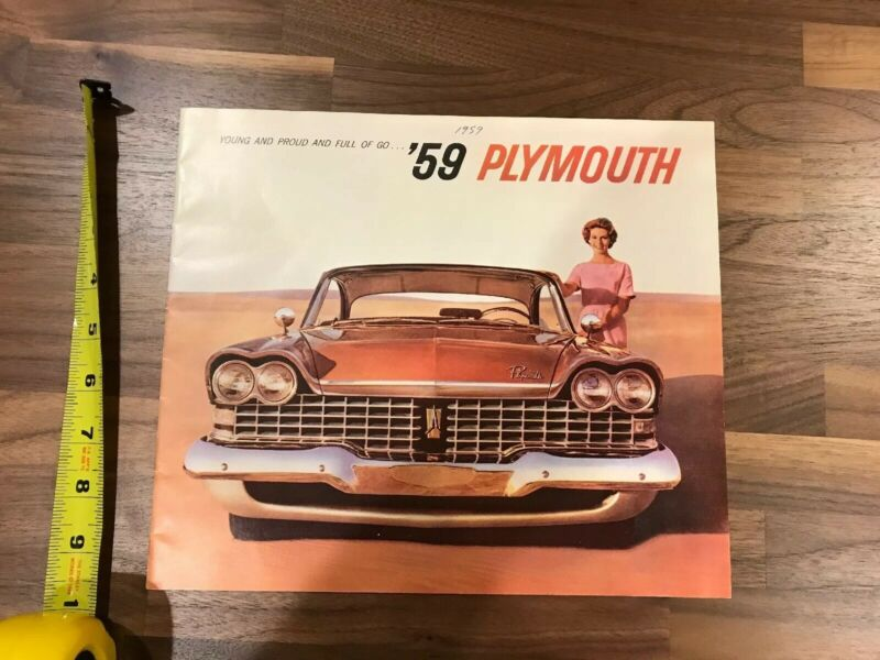 1959 Plymouth Dealer Brochure Fury Savoy Belvedere Catalog Pamphlet 20 Pages