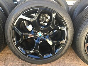 "4x GENUINE BMW X5 20"" 214 Y SPOKE ALLOY WHEELS AND RUN FLATS BRID Blakehurst Kogarah Area Preview"