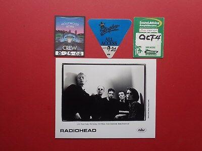 RADIOHEAD,Promo Photo,3 Original Backstage passes,Various tours
