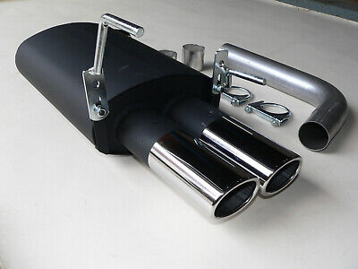 MERCEDES C KLASSE W202 180 - 280 SPORTAUSPUFF 2x 87mm x 70mm OVAL > NEU <