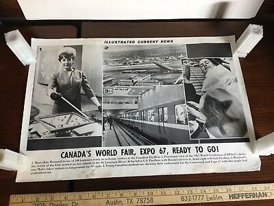Illustrated Current News Photo - Canada's EXPO 1967 World's Fair Montreal