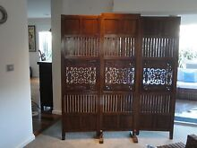 Divider, Timber intricately hand-carved 3 partition Room Screen Langwarrin Frankston Area Preview