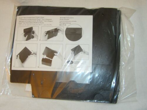Creative Memories Scrapbooking Black Plastic Power Sort Compartment Cover 2 Pack