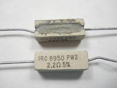 2.2 Ohm 2 Watt 5 Wire Wound Power Resistor Nos New Old Stockqty 10 Ead510