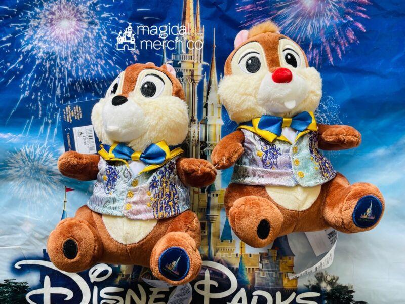 2021 Disney World 50th Anniversary Chip & Dale Plush New In Hand