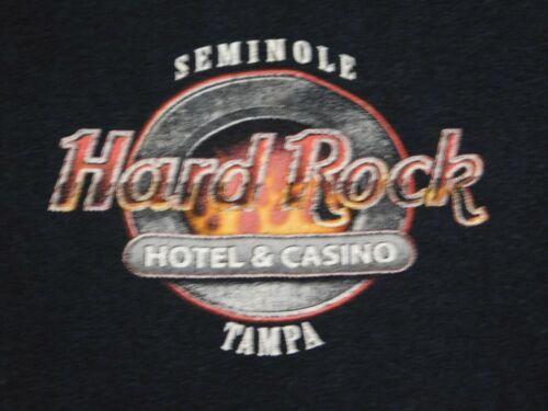 Seminole Hard Rock Hotel and Casino Tampa L T shirt Motorcycle Flames