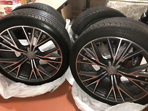 "Audi A7 OEM forged 20"" rims with Continental A/S tires"