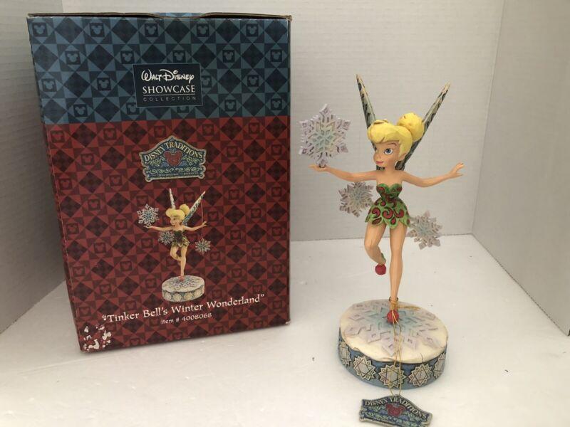 Disney Traditions Showcase Jim Shore Figurine Tinker Bells Winter Wonderland