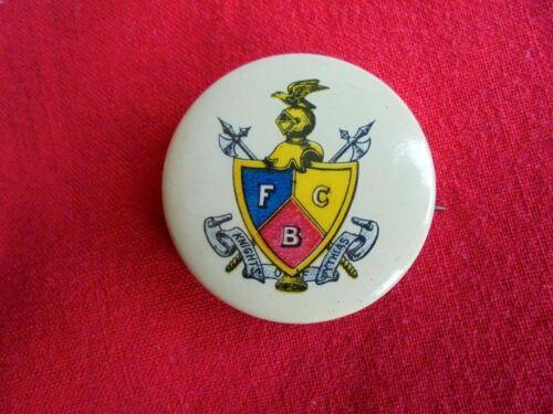 Vintage / Antique Knights of Pythias Pinback Button