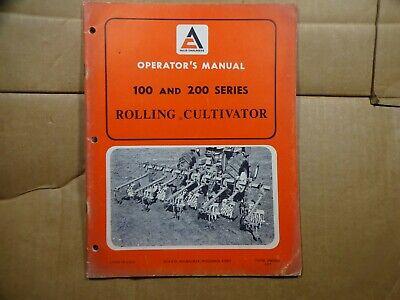 Allis Chalmers 100 200 Series Rolling Cultivator Operators Manual 171