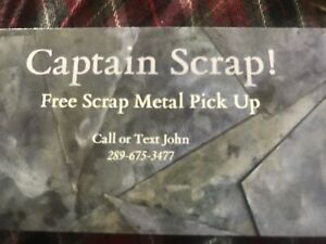 Free scrap metal pick up!