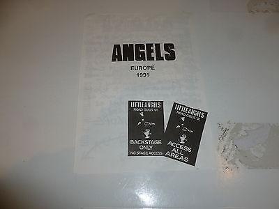 "LITTLE ANGELS -1991 Tour Flyer - ""Road Gods 91"" with tour dates"