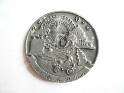 Cool Vintage 1991 Meet Me in St Louis MO Souvenir Large Medallion Token Coin
