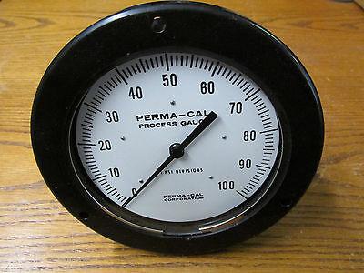 New Nos Perma-cal 111fid04a01 Pressure Gauge Dial Indicating 0-100 Psi