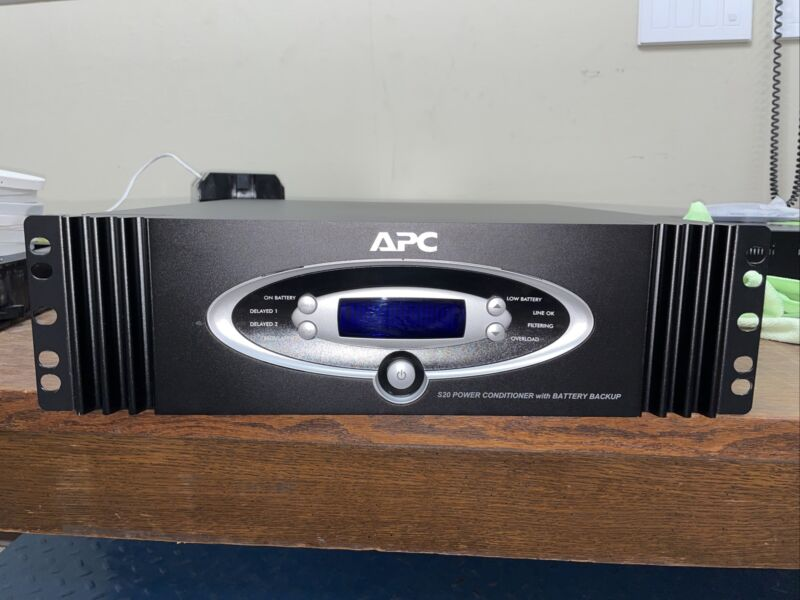 Apc s20 power conditioner battery backup