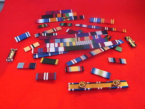 MEDAL-RIBBON-BAR-4-SPACE-FULL-SIZE-PINNED-or-STUDDED-or-SEWN