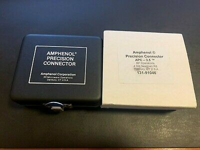 Amphenol Precision Apc-7 To Apc-3.5 Jack Connector Rf Part 131-91046