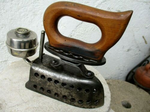 Vintage Rare Ironing Clothes Press With a Torch Alcohol Tank Fueled Omega?