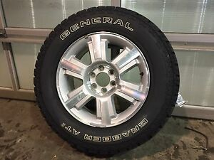 "20"" F-150 Wheel with a Brand New General Grabber AT2 Tire"