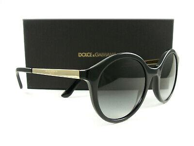 Dolce & Gabbana Sunglasses DG4358 Black Gold 501/8G New Authentic