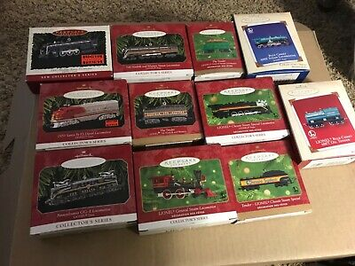 Hallmark Lionel Trains Christmas Ornaments–1996-2006 Complete Sets, lot of 24