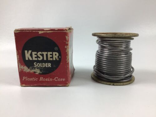 Vintage Kester Solder Plastic Resin Core Partially USED