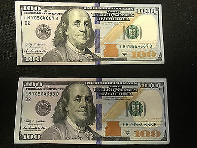 1 X  100 Federal Reserve Note Us Currency Hundred Dollar Bill