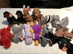 Ty Beanie Babies - jungle animals collection