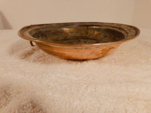 "Vintage Solid Copper - Tinned Colander/Strainer - Hanging Ring - 7"" in Diameter"