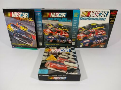 Computer Games - NASCAR Racing CD-ROM PC Computer Games lot Of 4