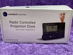 Ambient Weather RC-8427 Projection Clock with Indoor Temperature.