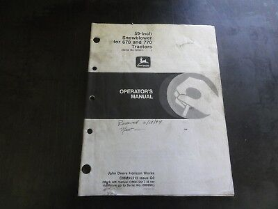 John Deere Attachments For 4100 Compact Utility Tractors Operators Manual K7
