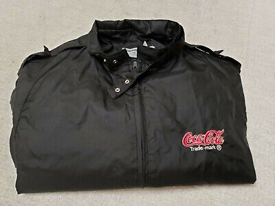 Vintage Swingster Coke Coca Cola Jacket Size Large Made in USA Nylon- Fast Ship