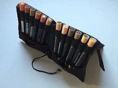 Delta Marker 12er Set - BROWN-COLORS - ALLES IN BRAUN prakt. Tasche - DMSBR12