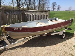 14ft Lund Aluminum Boat and Trailer for Sale